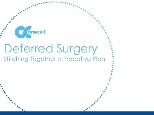 Stitching Together a Proactive Plan for Deferred Surgeries